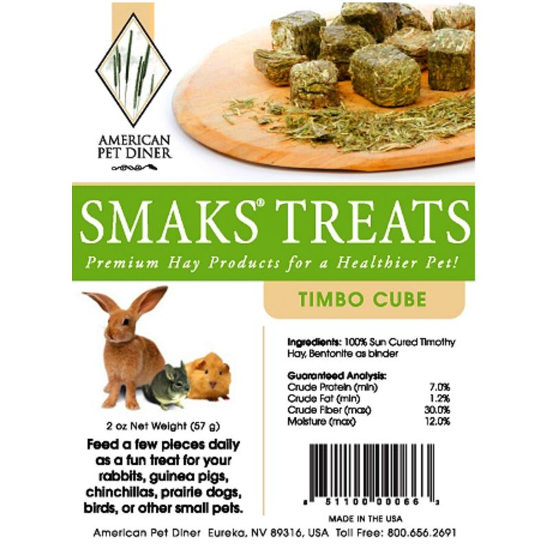 Guinea Pig Treats Smaks From American Pet Diner Timbo Cubes