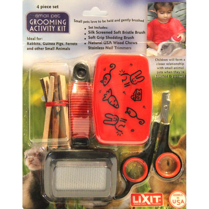 Grooming Kit With Nail Clippers And Brushes And Chew