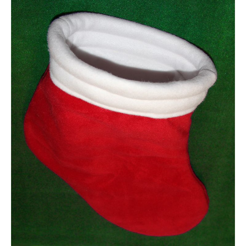 Christmas Stocking Cozy In Red And White Fleece For Guinea
