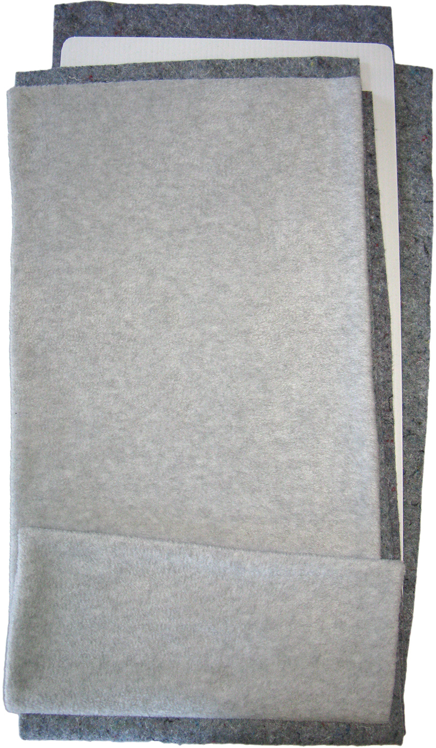 Fleece Flipper in Solid Gray