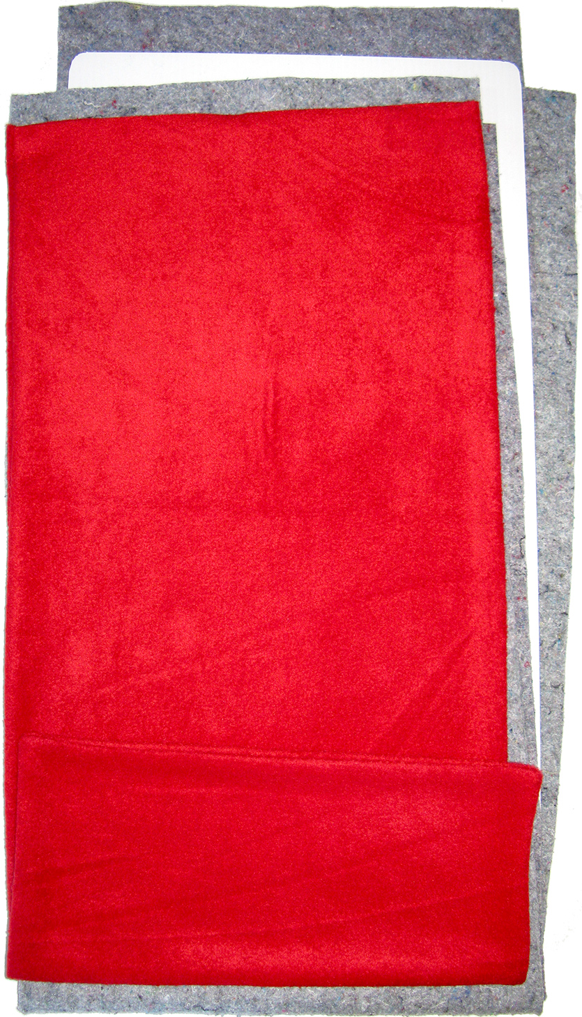 Fleece Flipper in Solid Red