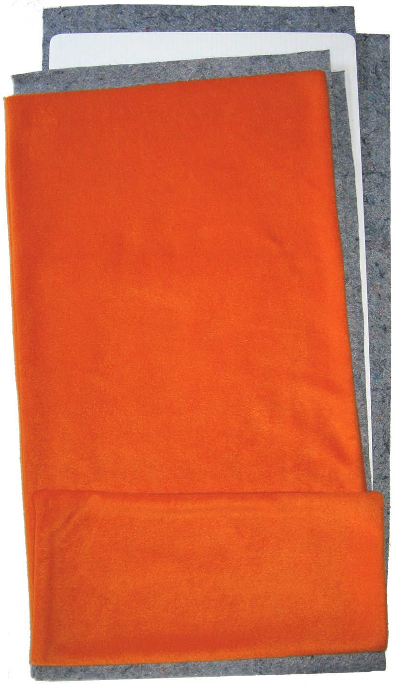 Orange Fleece Flippers