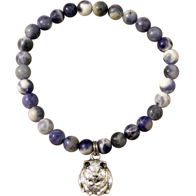 Animystic Sodalite Charm Bracelet with Guinea Pig