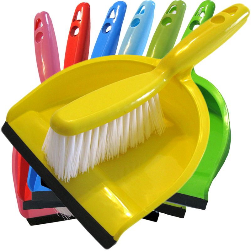 Dustpan and Brush in Multiple Colors - rainbow