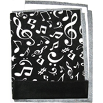 Fleece Flipper Set for a Party Patio - Music Notes