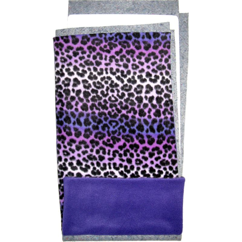 Fleece Flipper Set for a Piggy Patio - Purple Leopard