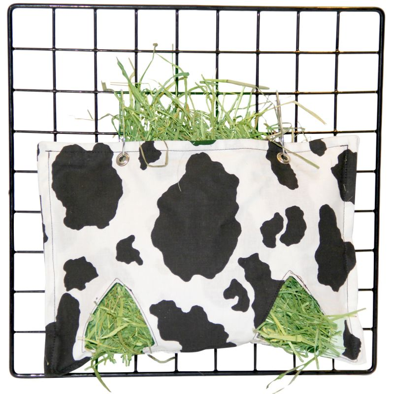 Hay Bag in Cow Fabric for Guinea Pigs' Cages