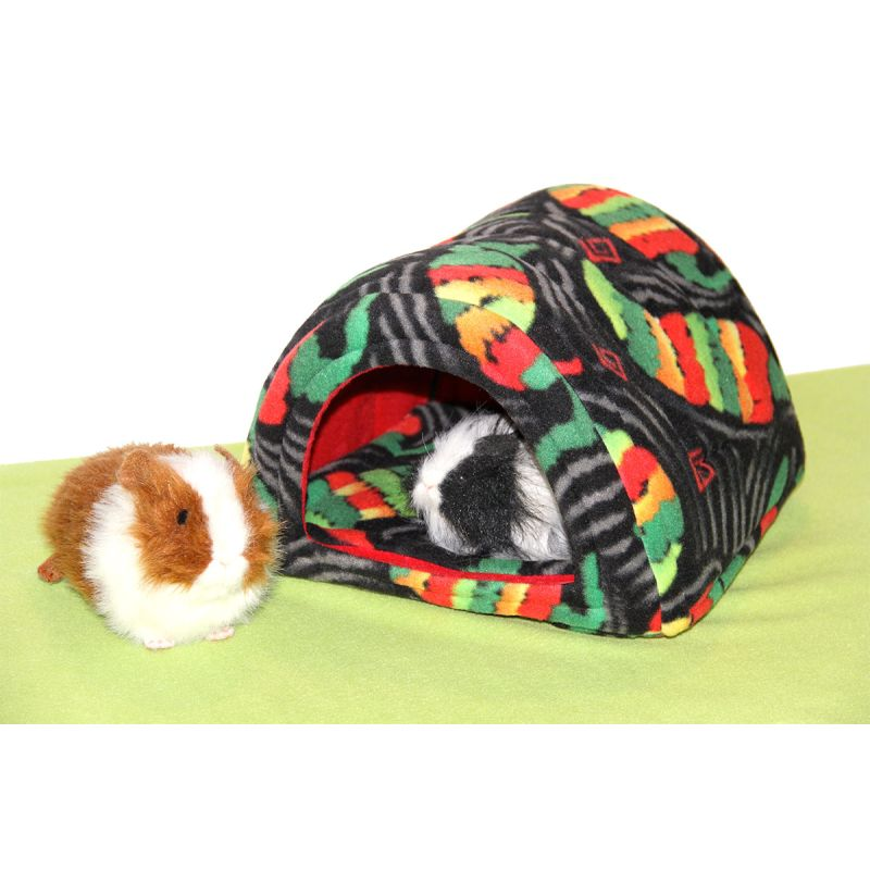 Hidey Hut in Fiesta fabric for guinea pigs