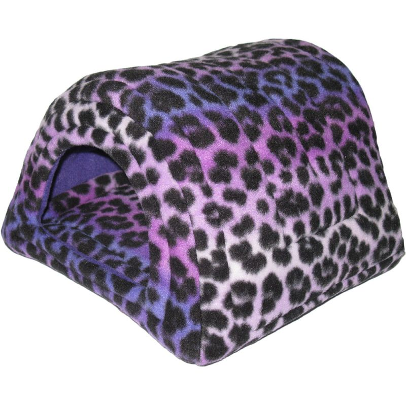 Hidey Hut in purple leopard