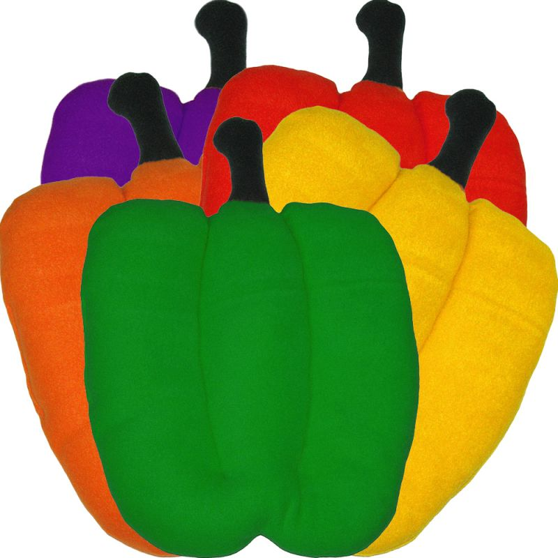Mult-colored BellPepper Plush Beds
