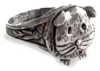 Guinea pig ring in pewter, adjustable