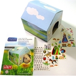 Deco House, package and contents with stickers