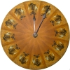 "Golden Agouti 10"" Guinea Pig Wall Clock"