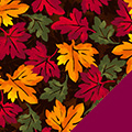 Tossed Leaves Fleece Fabric