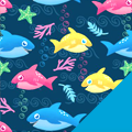 Baby Sharks Fleece Fabric