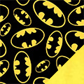 Bat Signal Fleece Fabric