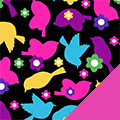 Bird Love Fleece Fabric