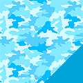 Blue Camo Fleece Fabric
