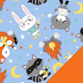Bonfire Animals Fleece Fabric