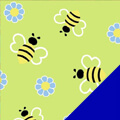 Busy Bees Fleece Fabric