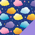 Clouds Fleece Fabric
