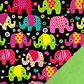 Elephants Fleece Fabric