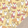 Foxes Fleece Fabric