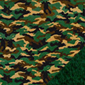 Green Camouflage Fleece Fabric