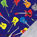 Guitars Fleece Fabric