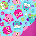 Happy Hooties Fleece Fabric