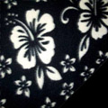 Black Hawaiian Fleece Fabric