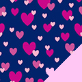 Heart Showers Fleece Fabric