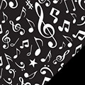 Music Notes Fleece Fabric