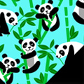 Pandas Fleece Fabric