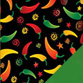 Chili Peppers Fleece Fabric
