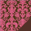 Pink Damask Fleece Fabric