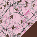 Pink Forest Fleece Fabric