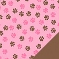 Pink Paws Fleece Fabric
