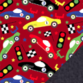 Racecars Fleece Fabric