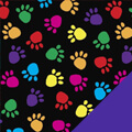 Rainbow Paws Fleece Fabric