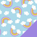 Rainbows Fleece Fabric