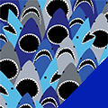 Sharks Fleece Fabric