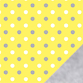 Silver Dots Fleece Fabric