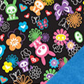 Skelanimals Fleece Fabric