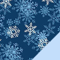 Snowflakes Fleece Fabric
