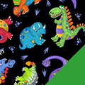 Tossed Dinos Fleece Fabric