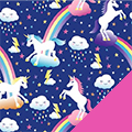Unicorns Fleece Fabric
