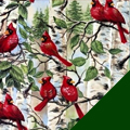 Wild Cardinals Fleece Fabric