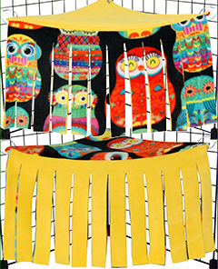 Reversible Owl Corner Curtain