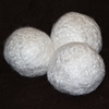 Bamboo dryer balls for fleece
